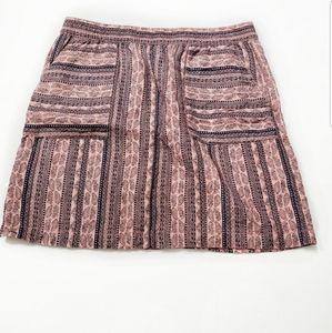 Garnet Hill 100% Linen Tribal Skirt Size 10 NWT